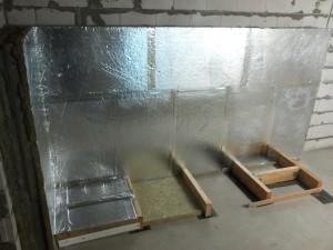 Underlag och isolering vägg